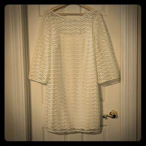 Beautiful Lilly Pulitzer White Overlay Dress